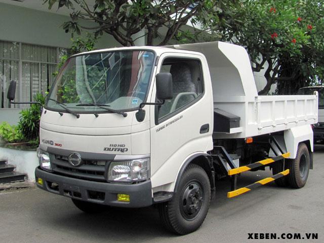 Xe ben Hino 3.5 tấn thùng ben 2.86m3 WU342L 110HD