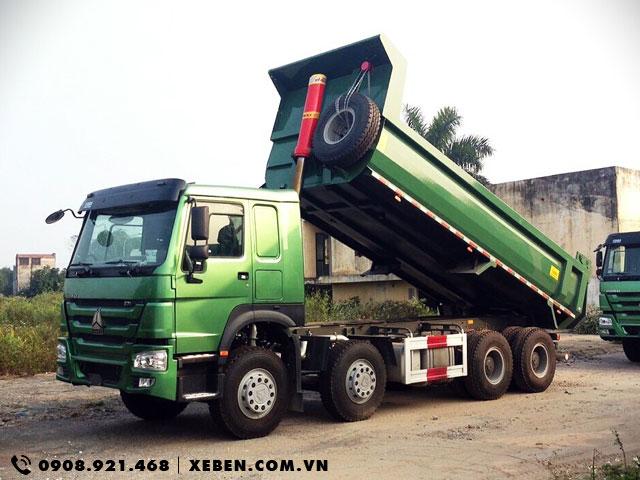 Bán xe ben Howo 4 chân 17 tấn thùng đúc chữ U giá tốt nhất