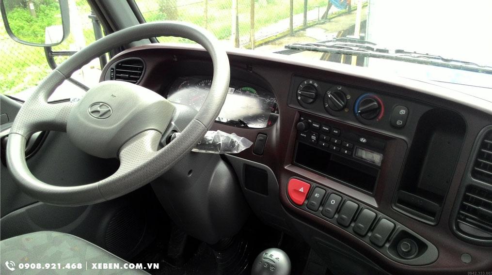nội thất xe ben hyundai 1.75 tấn hd65 hạ tải vào tp