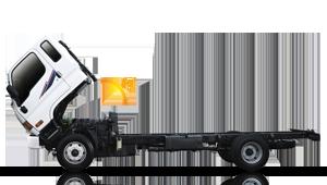 Cabin lật 50 độ xe ben Hyundai 1.75 tấn hạ tải vào tp